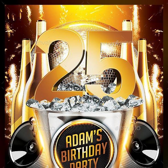 Birthday Party Flyer v3