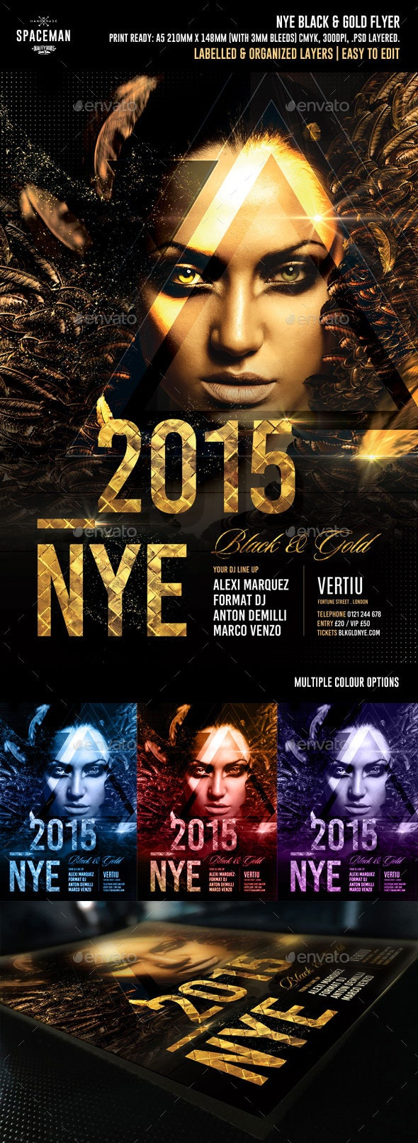 NYE Black & Gold - Clubs & Parties Events