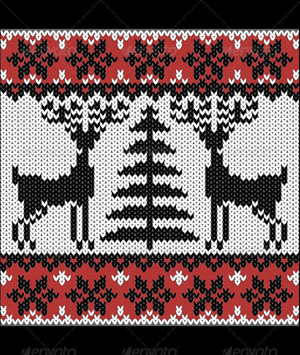 Winter Nordic Pattern. - Patterns Decorative