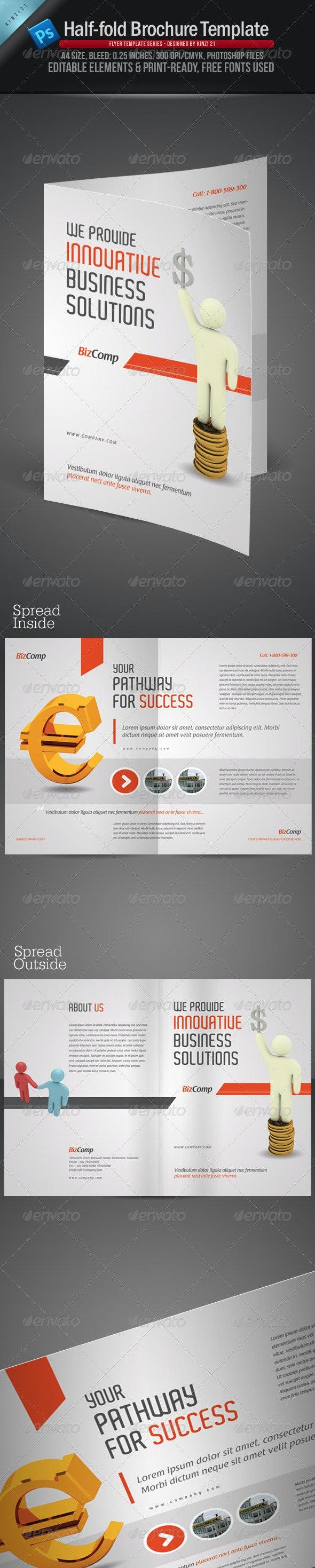 A4 Half Fold Brochure Template - Corporate Brochures