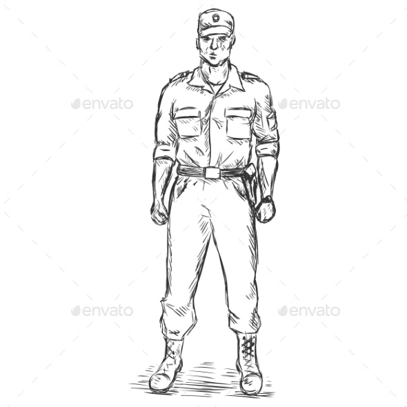 Service Man - People Characters