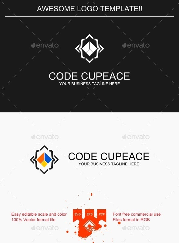 Code Cupeace Logo - Objects Logo Templates