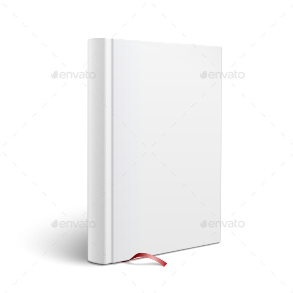 Blank Vertical Book With Bookmark Template By Derzai Graphicriver