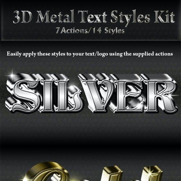 3D Metal Text/Logo Styles Kit