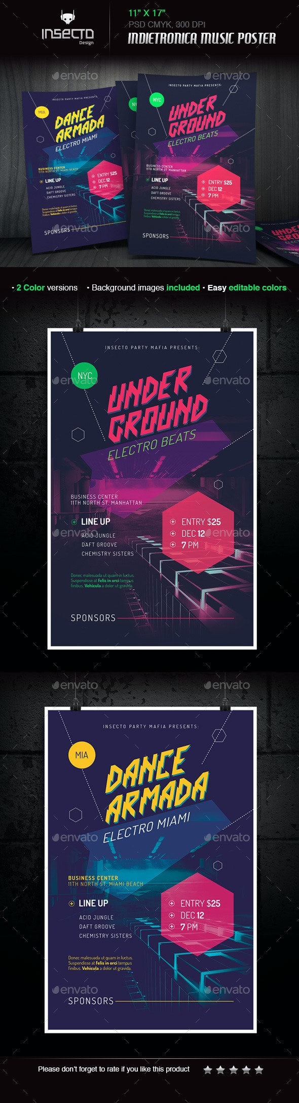 Futuristic Indietronica Music Event Poster - Concerts Events