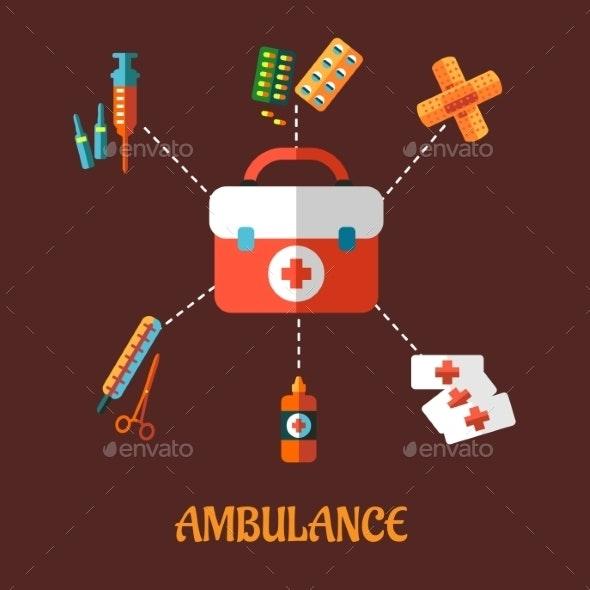 Ambulance Icons - Health/Medicine Conceptual