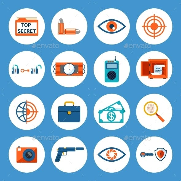 Spy Accessories and Gadget Icons