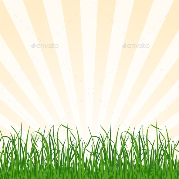 Landscape Background with Grass and Sky - Backgrounds Decorative