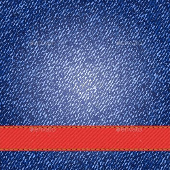 Denim Texture with Ribbon