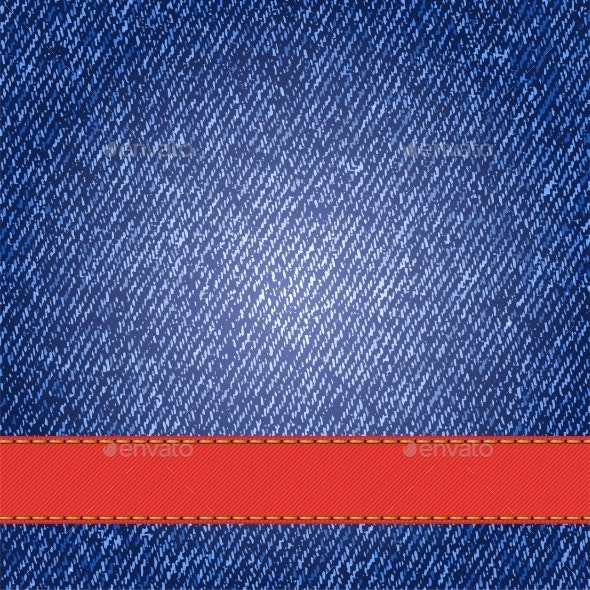 Denim Texture with Ribbon - Backgrounds Decorative
