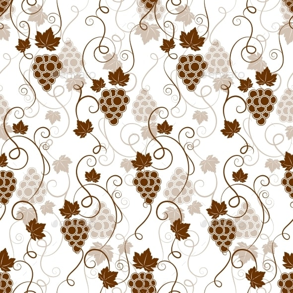 Seamless Background Pattern of Grapes - Patterns Decorative