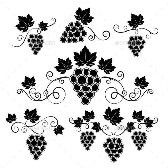 Winery Design Elements Set - Decorative Vectors