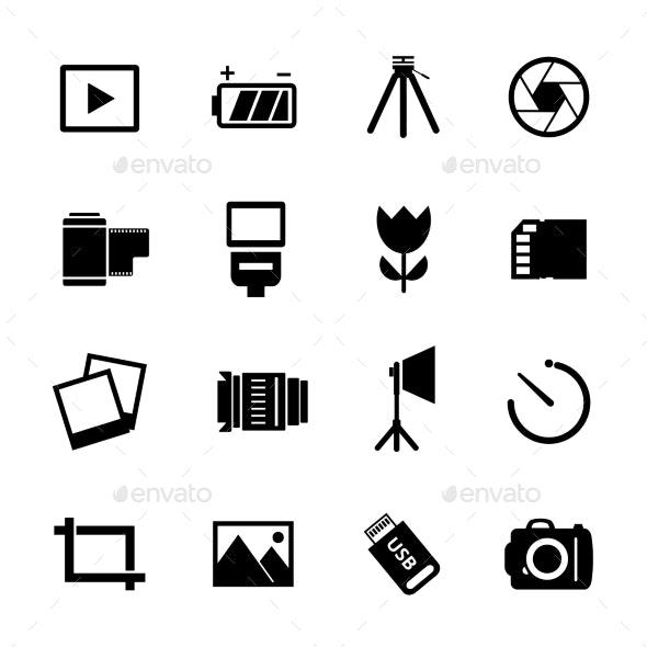 Photography Icon Set - Miscellaneous Vectors