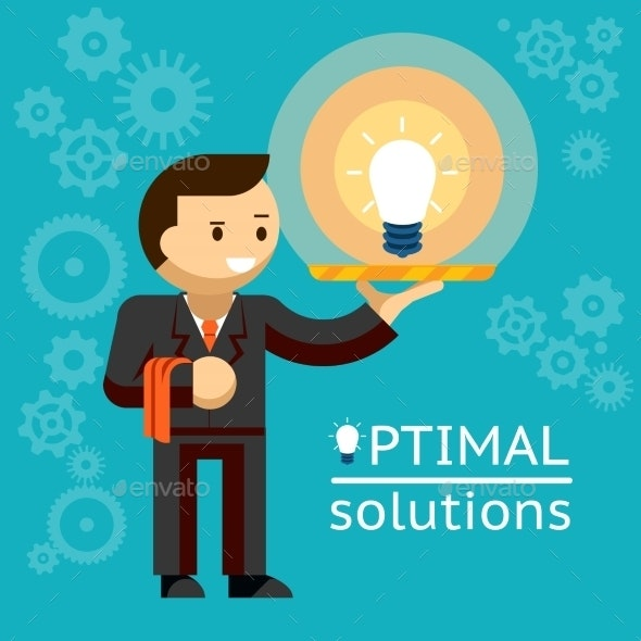 Optimal Solutions Concept - Business Conceptual