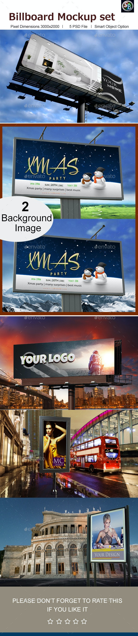 Billboard Mockup Set  - Signage Print