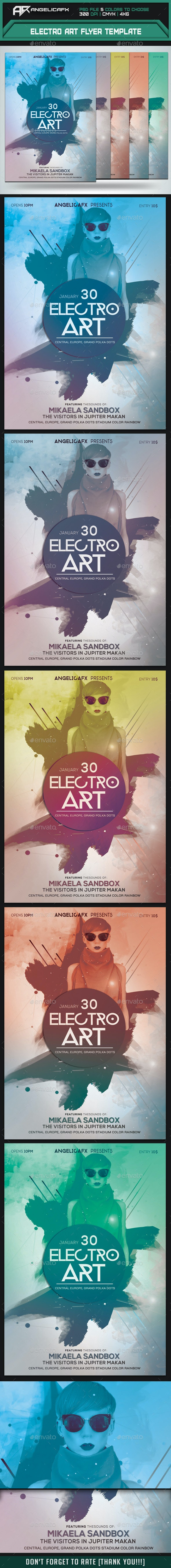 Electro Art Flyer Template - Flyers Print Templates