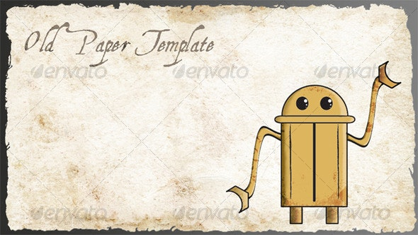 Old Paper Template - Backgrounds Graphics