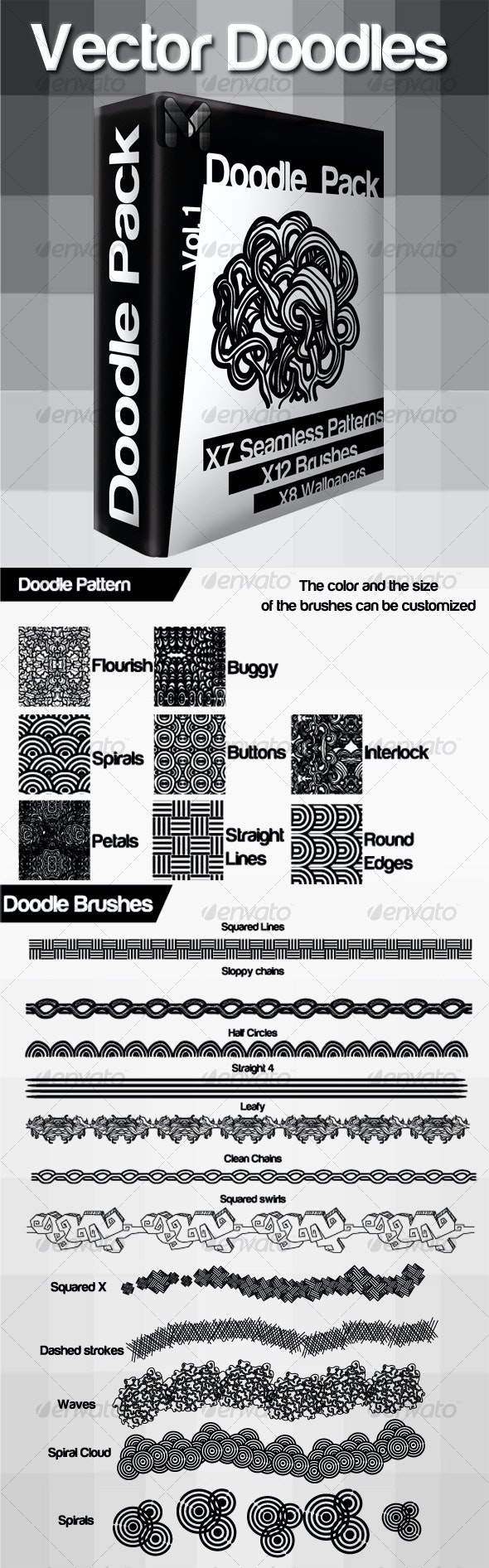 Vector Doodle Pack  - Patterns Decorative