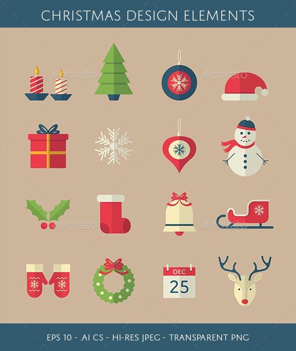 Christmas Design Elements - Christmas Seasons/Holidays
