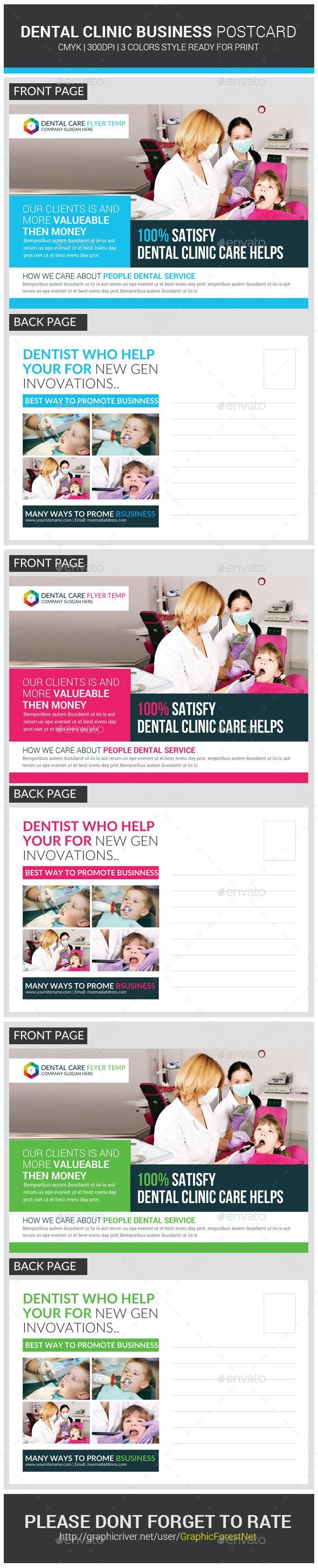 Medical Dental Care Health Postcards