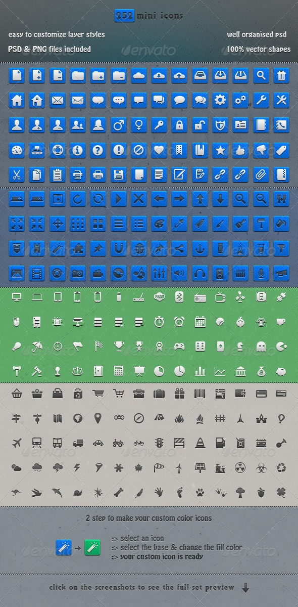 252 Pixel Perfect Icons - Web Icons