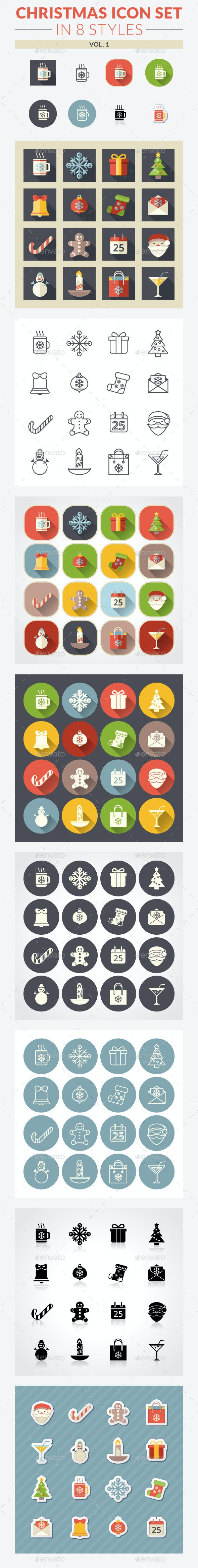 Christmas Icon Set. Vol. 1
