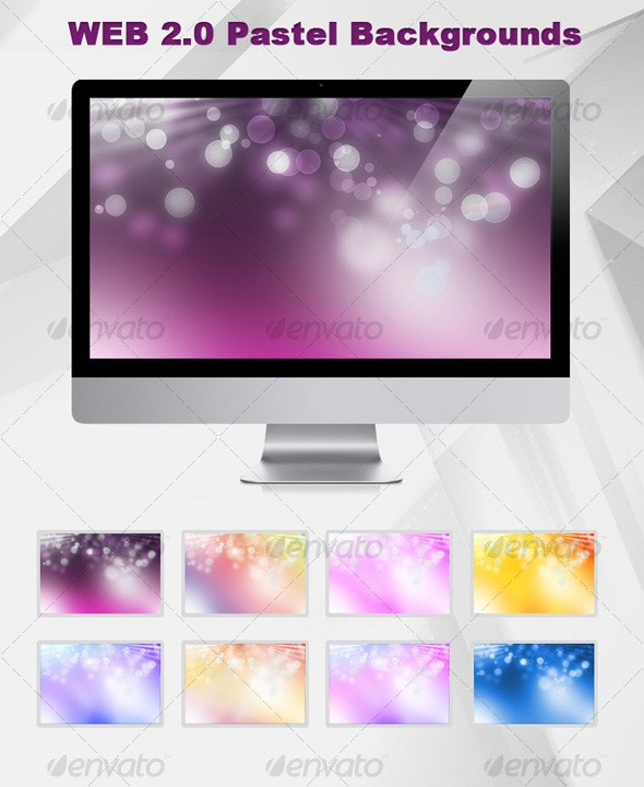 Web 2.0 pastel background - Backgrounds Graphics