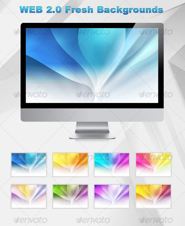 Web 2.0 Fresh background - Backgrounds Graphics
