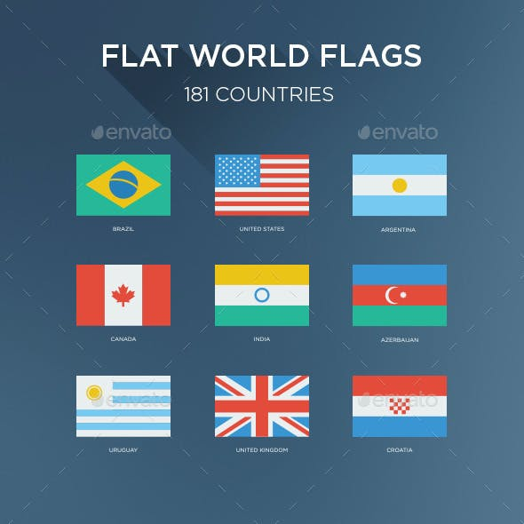 181 Flat World Flags