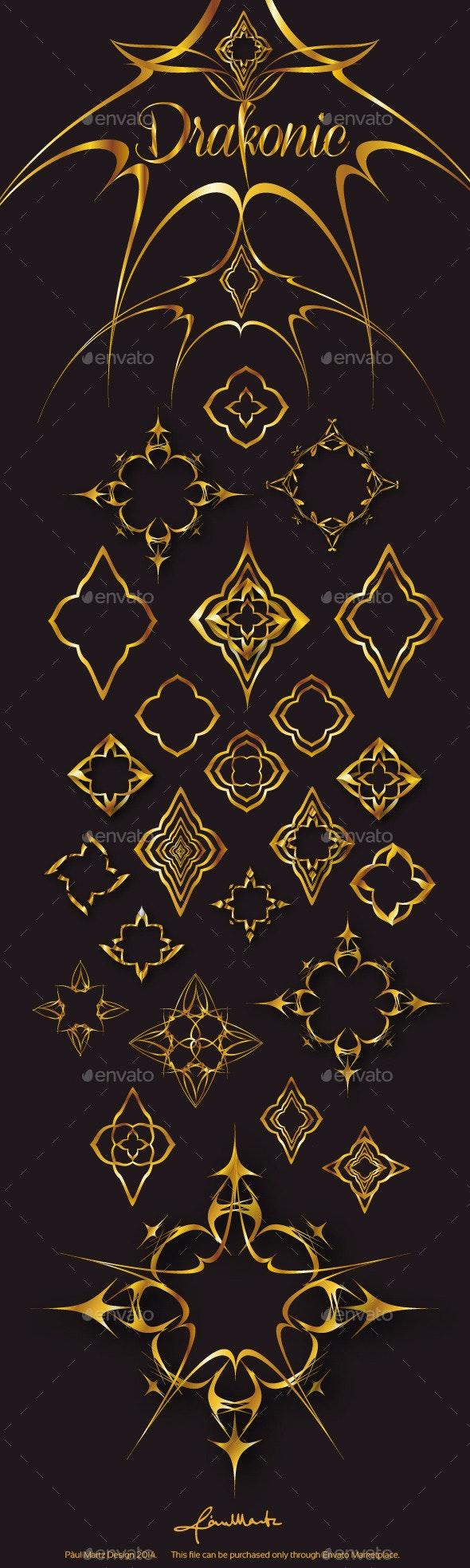Drakonic Gold - Decorative Symbols Decorative