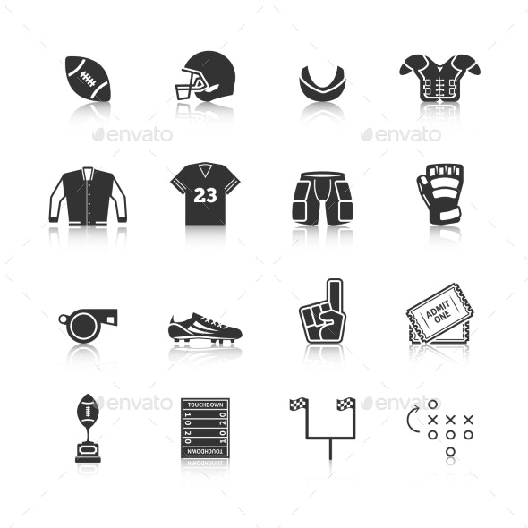 Rugby Icons Set - Web Icons