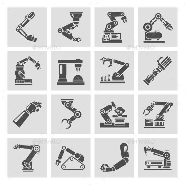 Robotic Arm Icons