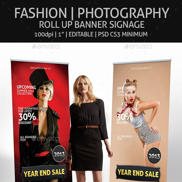 Fashion - Roll Up Banner Signage