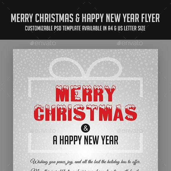Merry Christmas & Happy New Year Flyer