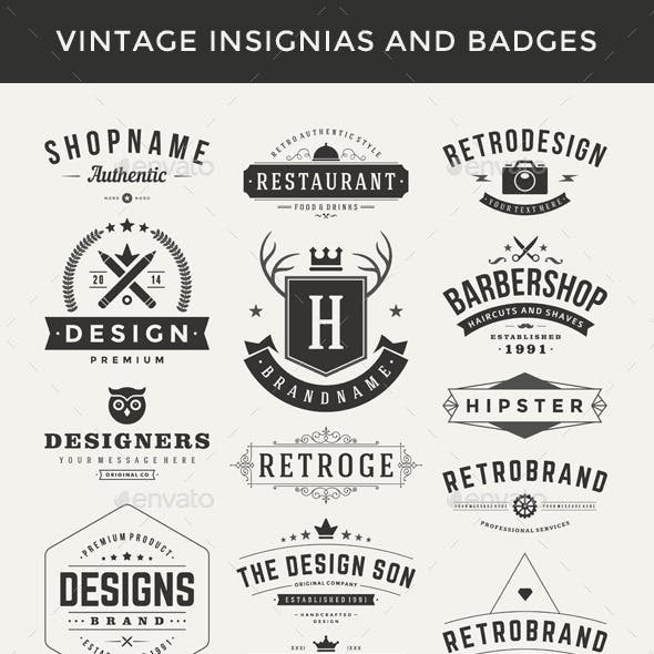 Retro Vector Insignias and Badges