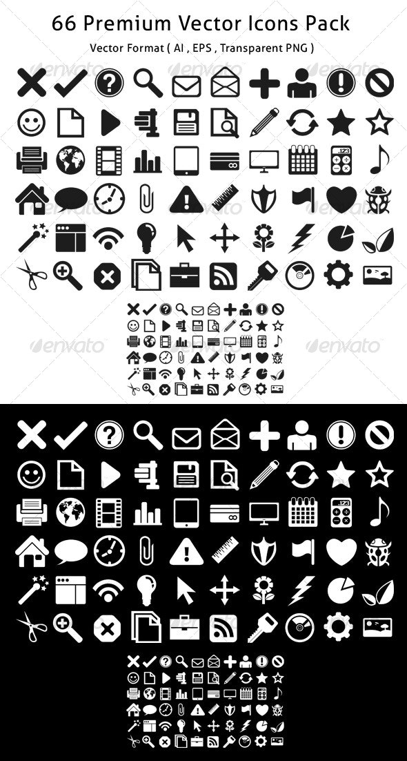 60 Premium Vector Icons Pack - Web Icons