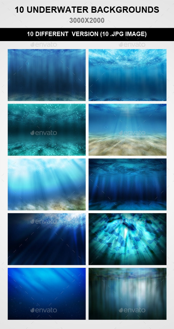 10 Underwater Backgrounds - Nature Backgrounds