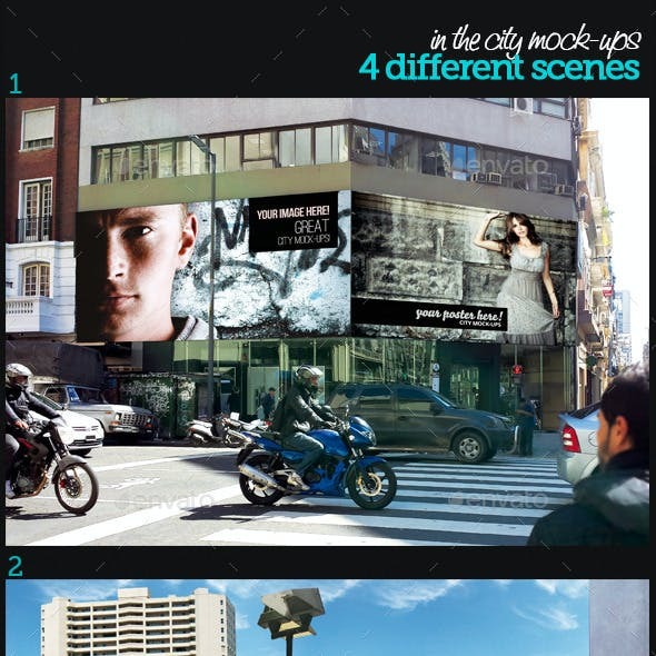 In The City Mock-Ups Template Pack