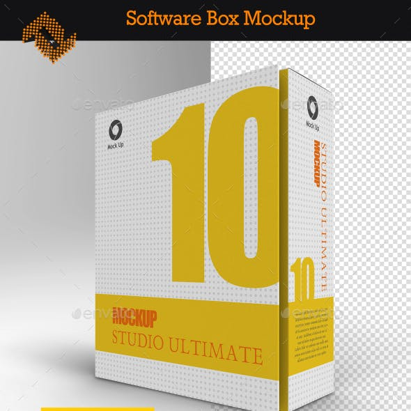 Software Book Style Box Mockup