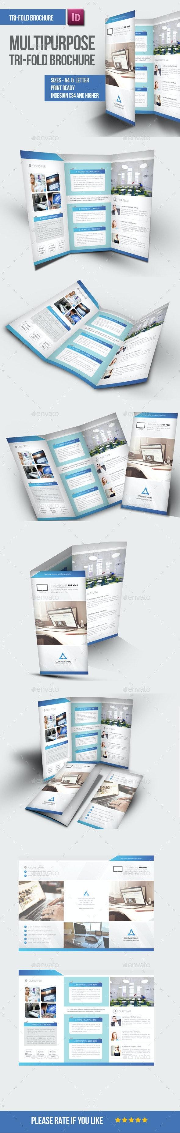 Multipurpose Tri-fold Brochure - Brochures Print Templates
