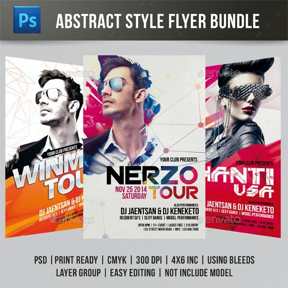 Abstract Style Flyer Bundle