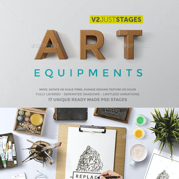 Art Equipments Mock Up