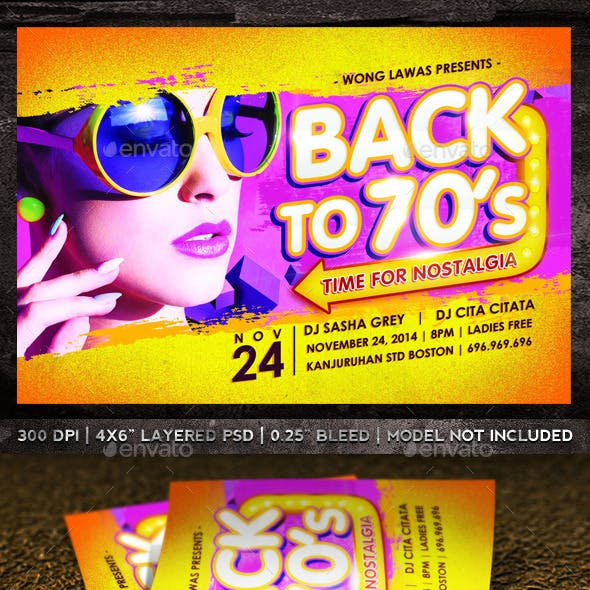 Back to 70's Flyer