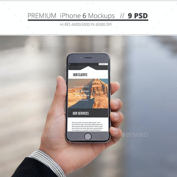 Phone 6 Mockups - 9 Pack