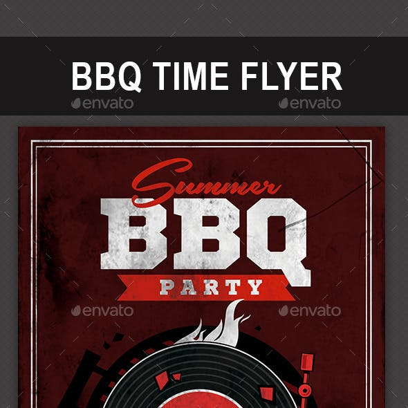 BBQ Time Flyer