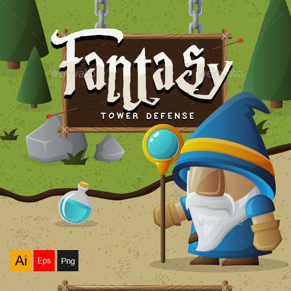 Fantasy Tower Defense Assets