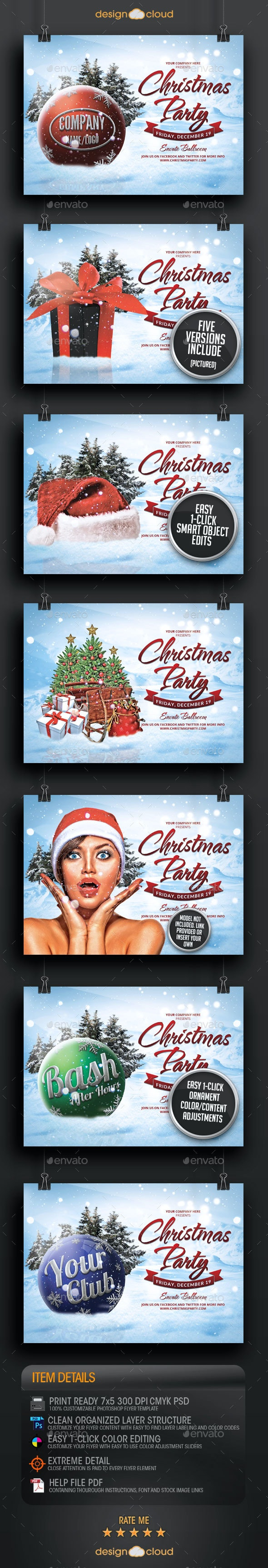 Christmas Party and Event All Purpose Flyer - Holidays Events