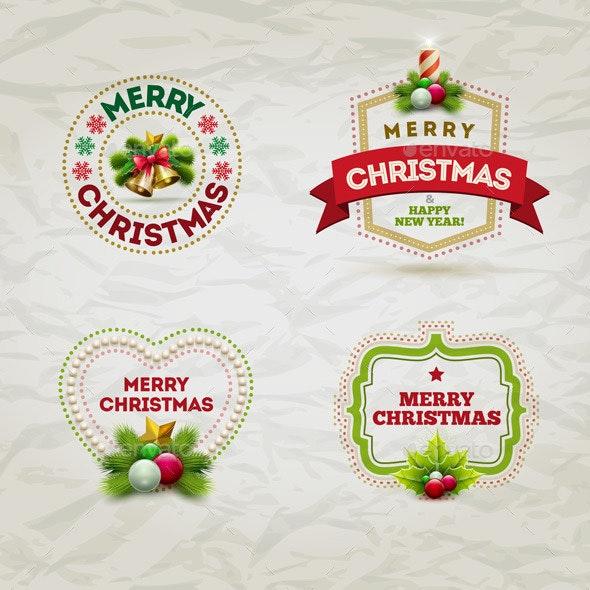 Christmas Badge Set - Christmas Seasons/Holidays