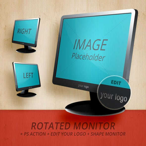 Rotated Monitor - Left & Right