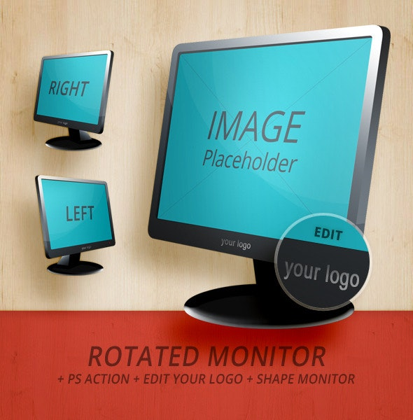 Rotated Monitor - Left & Right  - Utilities Actions